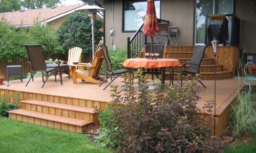 new cedar deck install
