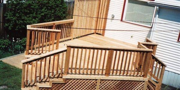 Newly built deck