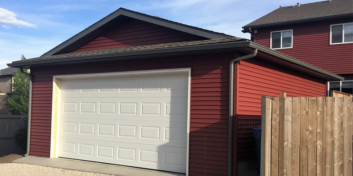 New garage door and house siding