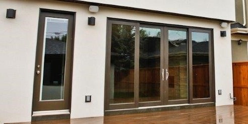 newly installed sliding door