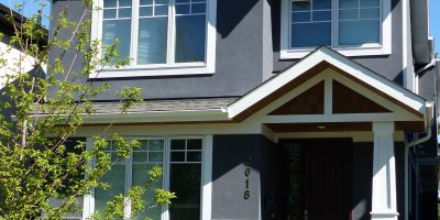 Stone and stucco siding