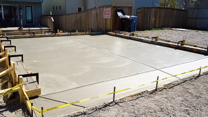 garage concrete finishing