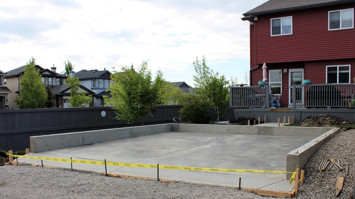 garage concrete finishing