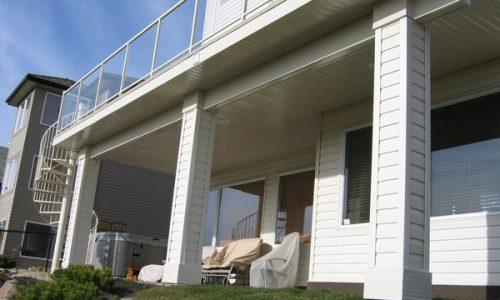 Aluminum Deck Soffit - Calgary's Best Deck Builder