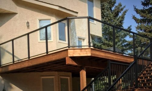 Aluminum Glass Railing - Calgary's Best Deck Builder