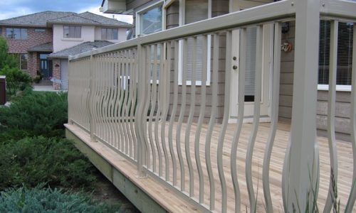 Aluminum Picket Railing - Calgary's Best Deck Builder small