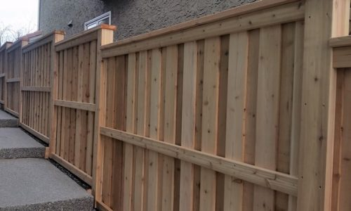 Cedar overlapped Fence Calgary's Best Fence Builder