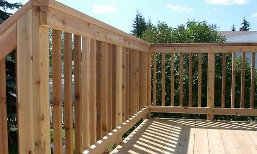 Cedar Picket Railing - Calgary's Best Deck Builder