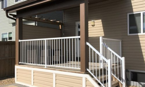 Custom Patio Cover Privacy Wall Aluminum Picket Railing Calgary's Best Deck Builder