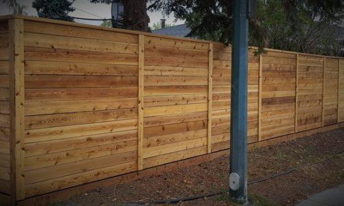 Horizontal Cedar Fence Calgary's Best Fence Builder