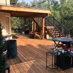 treated deck aluminum railing calgarys best deck builder