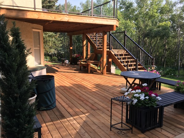 treated deck aluminum railing calgarys best deck builder