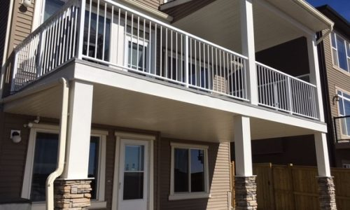 Vinyl Deck Aluminum Glass Railing Custom Patio Cover Calgary's Best Deck Builder